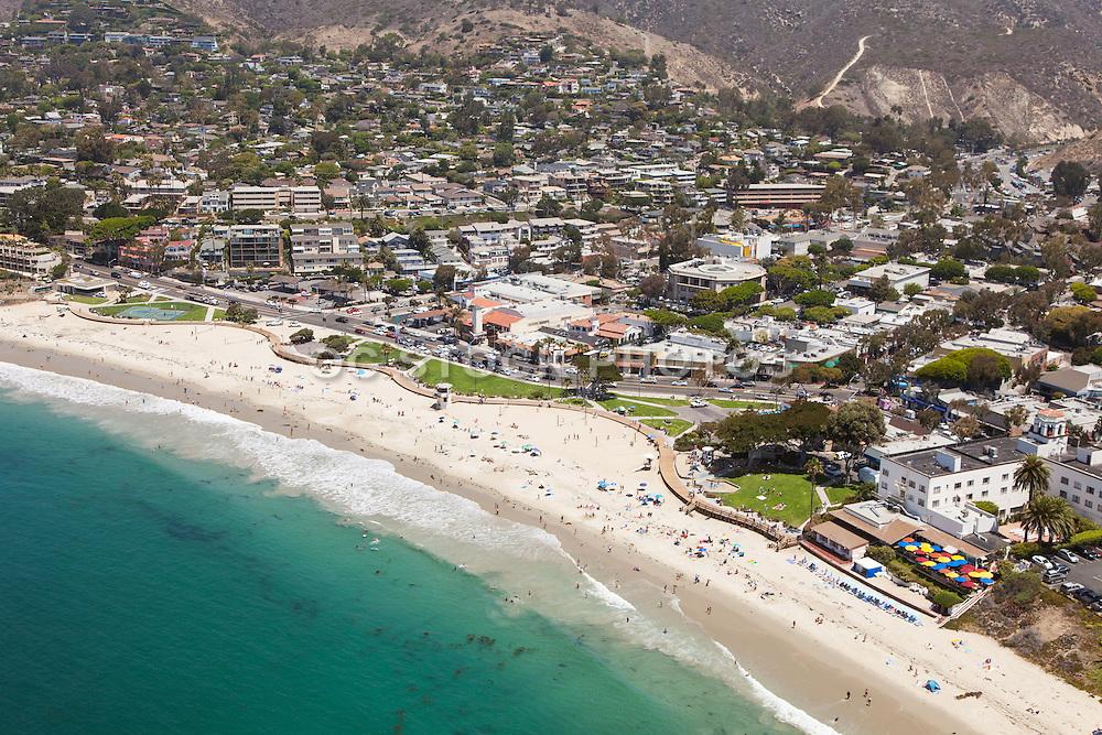 Aerial Stock Photo of Laguna Beach and Main Beach