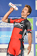 Taylor Phinney (USA) of BMC Racing Team receives most combative rider award for the london stage during the Tour of Britain 2016 stage 8 , London, United Kingdom on 11 September 2016. Photo by Mark Davies.