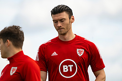 CARDIFF, WALES - Saturday, September 5, 2020: Wales' Kieffer Moore during a training session at the Vale Resort ahead of the UEFA Nations League Group Stage League B Group 4 match between Wales and Bulgaria. (Pic by David Rawcliffe/Propaganda)