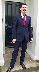 David Milliband outside his house in North London  this morning. He announced plans to resign as an MP to lead  charity, Refuge in New York, London, UK, March, 27, 2013. Photo by: i-Images...