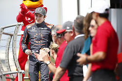 March 11, 2018 - St. Petersburg, Florida, United States of America - March 11, 2018 - St. Petersburg, Florida, USA: Zach Veach (26) gets introduced to the crowd for the Firestone Grand Prix of St. Petersburg at Streets of St. Petersburg in St. Petersburg, Florida. (Credit Image: © Justin R. Noe Asp Inc/ASP via ZUMA Wire)