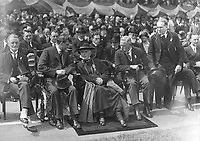 H2480<br /> Opening of the 1932 Tailteann Games. Group including President Eamon De Valera, Cardinal MacRory and Mr. J.J. Keane Director of the games. (Part of the Independent Newspapers Ireland/NLI Collection)
