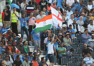 Both sets of fans during the International T20 match between England and India at Old Trafford, Manchester, England on 3 July 2018. Picture by George Franks.