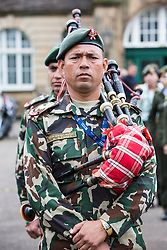 The 1,200 performers that will take part in the 2016 Royal Edinburgh Military Tattoo come together for the first time to rehearse.<br /> <br /> Pictured: Member of the Royal Jordanian Armed Forces Band