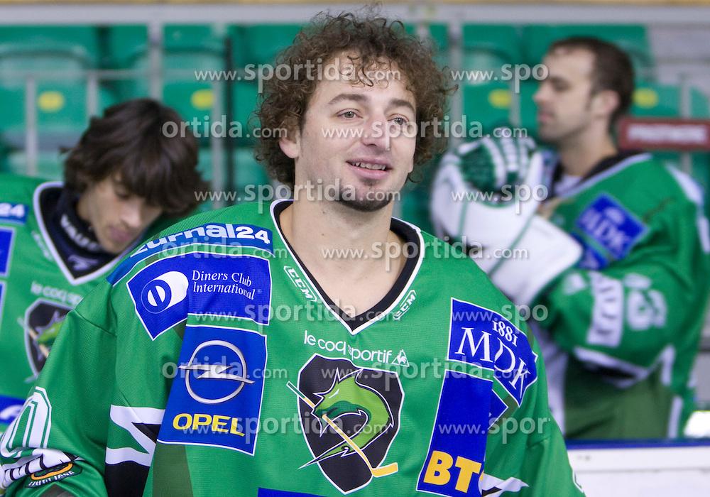 Brendan Yarema of HDD Tilia Olimpija before new season 2008/2009,  on September 17, 2008 in Arena Tivoli, Ljubljana, Slovenia. (Photo by Vid Ponikvar / Sportal Images)