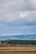 Cloudy skies over Conboy Lake National Wildlife Refuge, Glenwood, WA, USA