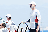 King Felipe VI of Spain on board of Aifos 500 during the 37th Copa Del Rey Mapfre Sailing Cup on August 1, 2018 in Palma, Spain