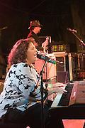 Israel, Nof Ginosar, Sweet Mama Cotton (Marcy Rae) performing at a music festival