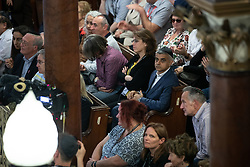 © Licensed to London News Pictures . 22/09/2019. Brighton, UK. London mayor SADIQ KHAN in the audience at a fringe event by the Jewish Labour Movement at middle Street Brighton Synagogue, during the second day of the 2019 Labour Party Conference from the Brighton Centre . Photo credit: Joel Goodman/LNP