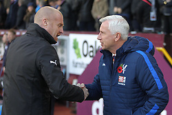 Burnley manager Sean Dyche (L) and Crystal Palace manager Alan Pardew before the match - Mandatory by-line: Jack Phillips/JMP - 05/11/2016 - FOOTBALL - Turf Moor - Burnley, England - Burnley v Crystal Palace - Premier League