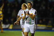 Ollie Lindsay-Hague of Harlequins looks on. European Rugby challenge cup match, Cardiff Blues v Harlequins at the BT Sport Cardiff Arms Park in Cardiff, South Wales onThursday 19th November 2015. pic by Andrew Orchard, Andrew Orchard sports photography.