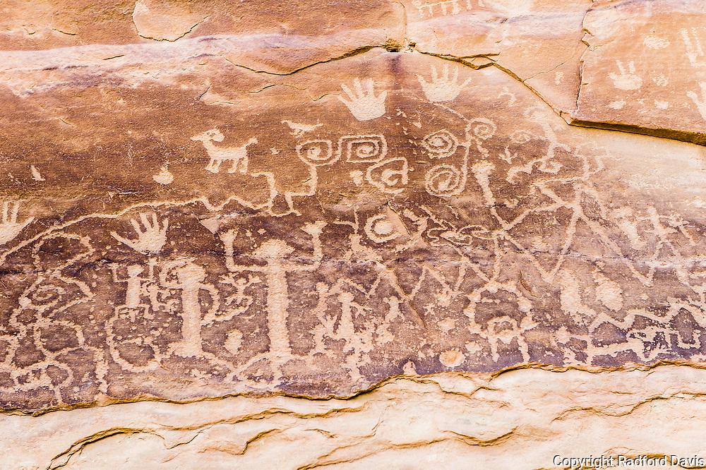 Peteroglyphs in Mesa Verde National Park, Colorado.