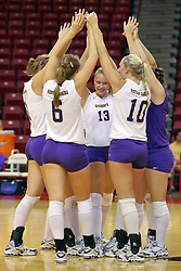 06 SEP 2008:  The Starting Catamounts meet on the court shortly after lineup announcements before a game between the Golden Grizzlies of Oakland and the Catamounts of Western Carolina. The Redbird Classic is held on Doug Collins Court in Redbird Arena located on the campus of Illinois State University in Normal IL.
