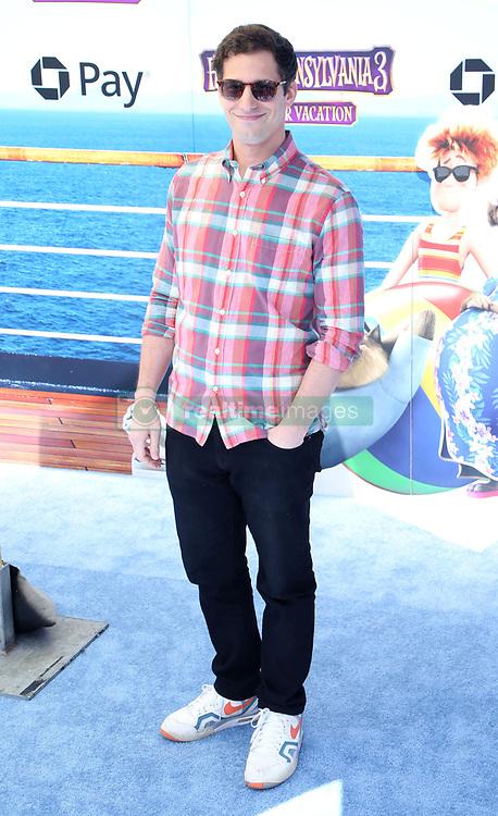 July 1, 2018 - Los Angeles, California, USA - 6/30/18.Andy Samberg at the premiere of ''Hotel Transylvania 3: Summer Vacation'' held at the Westwood Village Theatre in Los Angeles, CA. (Credit Image: © Starmax/Newscom via ZUMA Press)