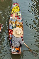 fruit boat Amphawa Bangkok floating market Bangkok Thailand