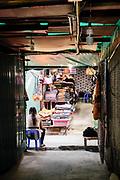 Rikrit Tiravanija browsing Hill Tribe market area