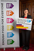 Mary Creagh MP supporting the Enough Food for Everyone?IF campaign. .MP's and Peers attended the parliamentary launch of the IF campaign in the State Rooms of Speakers House, Palace of Westminster. London, UK.