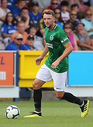 """Brightons Dale Stephens during a pre season friendly match at The Cherry Red Records Stadium, Kingston Upon Thames. PRESS ASSOCIATION Photo. Picture date: Saturday July 21, 2018. Photo credit should read: Mark Kerton/PA Wire. EDITORIAL USE ONLY No use with unauthorised audio, video, data, fixture lists, club/league logos or """"live"""" services. Online in-match use limited to 75 images, no video emulation. No use in betting, games or single club/league/player publications."""