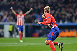 November 22, 2017 - Madrid, Spain - Antoine Griezmann celebrates the first goal of Atletico de Madrid during the UEFA Champions League group C match between Atletico Madrid and AS Roma at Estadio Wanda Metropolitano on November 22, 2017 in Madrid, Spain  (Credit Image: © Mateo Villalba/NurPhoto via ZUMA Press)
