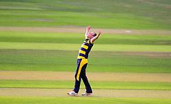 Graham Wagg of Glamorgan celebrates the wicket of Max Waller.  - Mandatory by-line: Alex Davidson/JMP - 22/07/2016 - CRICKET - Th SSE Swalec Stadium - Cardiff, United Kingdom - Glamorgan v Somerset - NatWest T20 Blast
