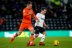 Craig Bryson of Derby County takes on Jed Wallace of Millwall - Mandatory by-line: Robbie Stephenson/JMP - 20/02/2019 - FOOTBALL - Pride Park Stadium - Derby, England - Derby County v Millwall - Sky Bet Championship