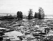 Y-480530-10.  debris and water, Vanport May 30, 1948