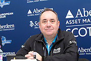 The Aberdeen Asset Management Scottish Open Golf Championship 2012 At Castle Stuart Golf Links..Final Round Saturday 14-07-12.. . Press ocnference on th Future of the Scottish Open,  with First Minster Alex Salmond,  George O' Grady of The European Tour, Martin Gilbert Chief Exec of Aberdeen Asset management and Roger Conrhill of Aberdeen Asset Managent, , during the FinalRound of The Aberdeen Asset Management Scottish Open Golf Championship 2012 At Castle Stuart Golf Links. The event is part of the European Tour Order of Merit and the Race to Dubai....At Castle Stuart Golf Links, Inverness, Scotland...Picture Mark Davison/ ProLens PhotoAgency/ PLPA.Saturday 14th July 2012.