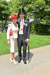 VISCOUNT & VISCOUNTESS GRIMSTON at the 1st day of the Royal Ascot Racing Festival 2015 at Ascot Racecourse, Ascot, Berkshire on 16th June 2015.