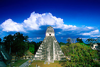 Temple II, The Great Plaza, Tikal National Park, Peten, Guatemala