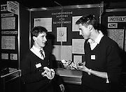 08/01/1988.01/08/1988.8th January 1988 .The Aer Lingus Young Scientist of the Year Award at the RDS, Dublin ..Picture shows Jeremy Skillington and Alan Morrison from Cork with their project 'Causes and Prevention of Heart Disease'.