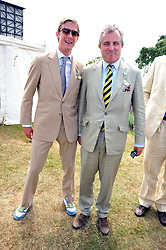 Left & centre, the HON.JAKE ASTOR and his father VISCOUNT ASTOR at a luncheon hosted by Cartier for their sponsorship of the Style et Luxe part of the Goodwood Festival of Speed at Goodwood House, West Sussex on 5th July 2009.