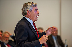 Pictured: Gordon Brown<br />Gordon Brown addressed thenew Scottish think tank seminar today.  He was joined by Shadow Scottish secretary Lesley Laird and Scottish Labour leader Richard Leonard who also spoke at the inaugural meeting of Our Scottish Future<br /><br />Ger Harley | EEm 30 August 2019