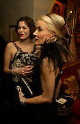 Jasmine Guinness and Daphne Guinness. Artists Independent Networks  Pre-BAFTA Party at Annabel's co hosted by Charles Finch and Chanel. Berkeley Sq. London. 11 February 2005. . ONE TIME USE ONLY - DO NOT ARCHIVE  © Copyright Photograph by Dafydd Jones 66 Stockwell Park Rd. London SW9 0DA Tel 020 7733 0108 www.dafjones.com