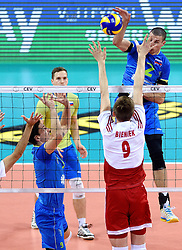 Alen Pajenk #2 during volleyball match between National teams of Poland and Slovenia in Quarterfinals of 2015 CEV Volleyball European Championship - Men, on October 14, 2015 in Arena Armeec, Sofia, Bulgaria. Photo by Ronald Hoogendoorn / Sportida