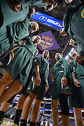 April 4, 2016; Indianapolis, Ind.; The UAA women's basketball team huddles before the NCAA Division II Women's Basketball National Championship game at Bankers Life Fieldhouse between UAA and Lubbock Christian.