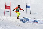 André Roger Weiss in Aktion. Teilnehmer beim Renzo's Schneeplausch vom 23. Januar 2016 in Vella, Gemeinde Lumnezia.