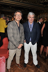 Left to right, JEFF LOUNDS and TIM BLANKS at the 50th birthday party for Patrick Cox held at the Café Royal Hotel, 68 Regent Street, London on 15th March 2013.