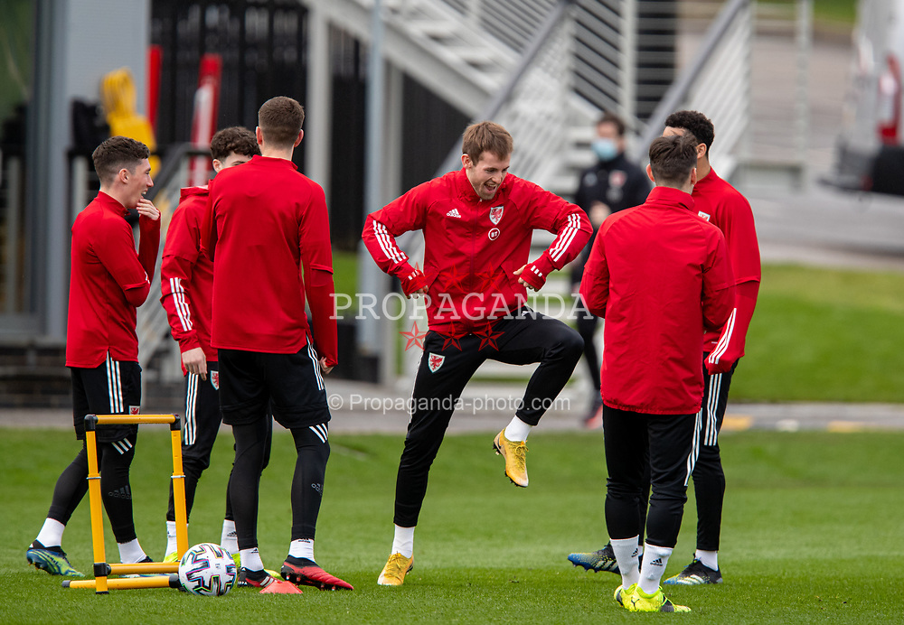 CARDIFF, WALES - Monday, March 29, 2021: Wales' Rhys Norrington-Davies during a training session at the Vale Resort ahead of the FIFA World Cup Qatar 2022 Qualifying Group E game against the Czech Republic. (Pic by David Rawcliffe/Propaganda)