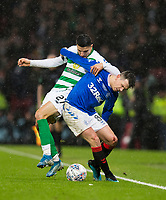 Football - 2019 Betfred Scottish League Cup Final - Celtic vs. Rangers<br /> <br /> Ryan Jack of Rangers vies with Mohamed Elyounoussi of Celtic, Hampden Park Glasgow.<br /> <br /> COLORSPORT/BRUCE WHITE