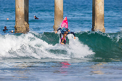 Mateus Herdy (BRA) advances to Round 2 of the 2018 VANS US Open of Surfing after winning Heat 2 of Round 1 at Huntington Beach, California, USA.