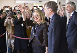 Secretary of State Hillary Clinton speaks to State Department employees in Washington D.C. on Feb. 1, 2013. Clinton, replaced by John Kerry as the next secretary of state, bid a final farewell to her staff Friday., February 1, 2013. Photo by Imago / i-Images...UK ONLY