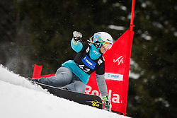 Patricia Mastnak (SLO) competes during Qualification Run of Women's Parallel Giant Slalom at FIS Snowboard World Cup Rogla 2016, on January 23, 2016 in Course Jasa, Rogla, Slovenia. Photo by Ziga Zupan / Sportida
