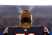 during an NFL football game \a on Sunday, Dec. 9, 2018, in Chicago. The Bears defeated the Rams, 15-6. (Ryan Kang via AP)