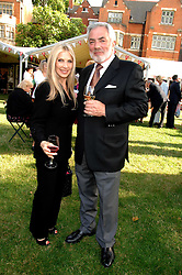 JOHN RUBIN and LYNSEY DE PAUL at the Lady Taverners Westminster Abbey Garden Party, The College Garden, Westminster Abbey, London SW1 on 10th July 2007.<br />