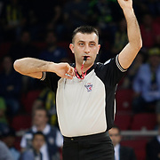 Referee's Engin KENNERMAN during their Turkish Basketball league Play Off Final third leg match Fenerbahce Ulker between Efes Pilsen at the Abdi Ipekci Arena in Istanbul Turkey on Tuesday 25 May 2010. Photo by Aykut AKICI/TURKPIX
