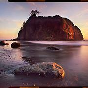 Ruby Beach sunset, Olympic National Park. 4x5 Kodak Ektar 100. <br /> photo by Nathan Lambrecht
