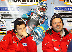 13.03.2016, Assen, BEL, FIM Eisspeedway Gladiators, Assen, im Bild Luca Bauer (GER), Guenther Bauer (GER) // during the Astana Expo FIM Ice Speedway Gladiators World Championship in Assen, Belgium on 2016/03/13. EXPA Pictures © 2016, PhotoCredit: EXPA/ Eibner-Pressefoto/ Stiefel<br /> <br /> *****ATTENTION - OUT of GER*****