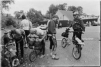 Murray Sayle, Australian journalist, at the 30th anniversary of Moulton Bikes which was held in the presence of Dr Alexander Moulton CBE. September 1992