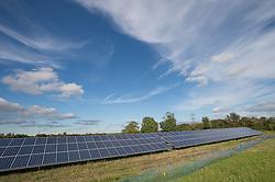 Solar Panels being installed at Parkwall Farm, Westonzoyland Road, Bridgewater.