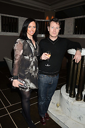 NICK MORAN and JASMIN DURAN at the Old Vic 24 Hour Plays Celebrity Gala held at the Rosewood Hotel, 252 High Holborn, London on 24th November 2013.